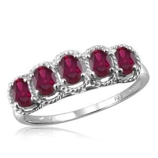 1ct TGW Ruby Gemstone Ring