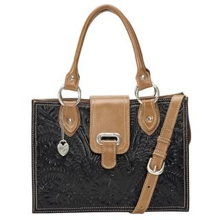 American West Black/ Tan Tote Bag