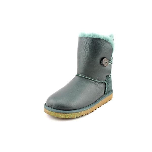 Ugg Australia Girl (Youth) 'Bailey Button Metallic ' Leather Boots