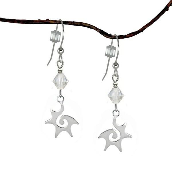 Jewelry by Dawn Crystal Moonlight Sterling Silver Starburst Dangle Earrings