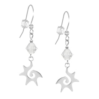Jewelry by Dawn Crystal Moonlight Sterling Silver Starburst Dangle Earrings