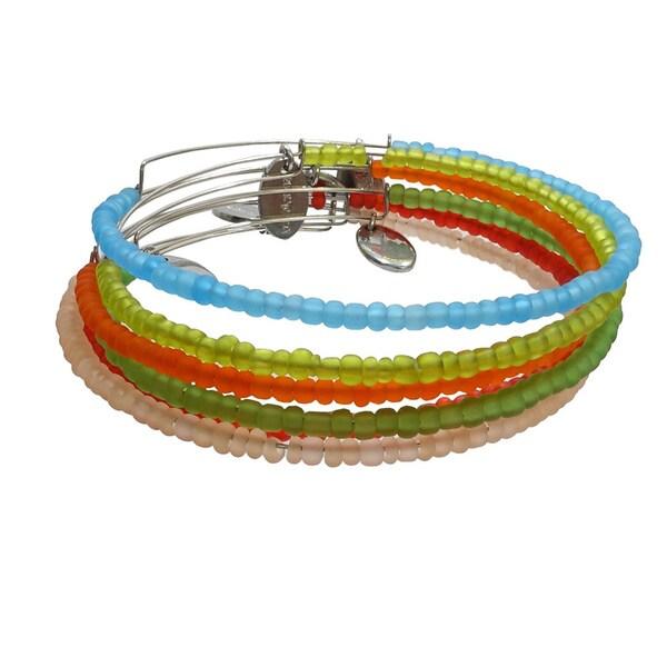 Pink Box Tootie Frootie Adjustable Bead Bangle Bracelets