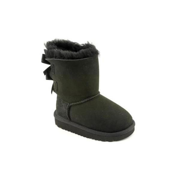 Ugg Australia Girl (Toddler) 'Bailey Bow' Regular Suede Boots