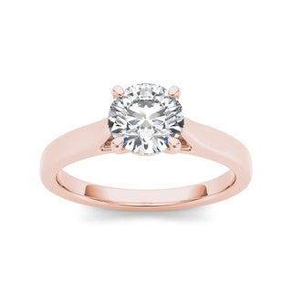 14k Rose Gold 1ct TDW White Diamond Solitaire Ring (H-I, I1)
