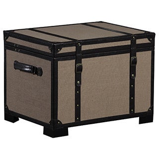 Linon Burlap Storage Trunk