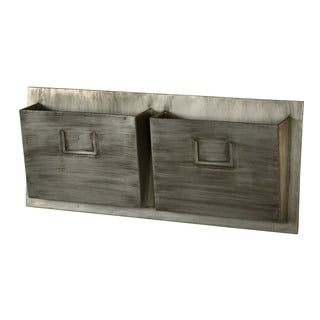 Oh! Home Industrial Metal Two Slot Mailbox - Horizontal