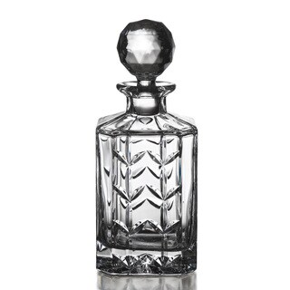Fitz and Floyd Fleur Square Crystal Decanter