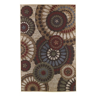 Signature Designs by Ashley Cece Beige Floral Wool Rug (5' x 7')