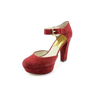 Michael Kors Women's 'Haven Ankle Strap' Regular Suede Dress Shoes