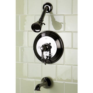 Vintage Black Nickel Pressure Balanced Tub and Shower Faucet