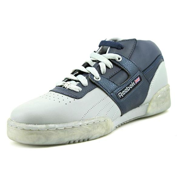 Reebok Boy (Youth) 'Workout Mid Ice' Leather Athletic Shoe (Size 5.5 )