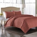 Nicole Miller Serenity Coral Polyester Jacquard 3-piece Coverlet Set