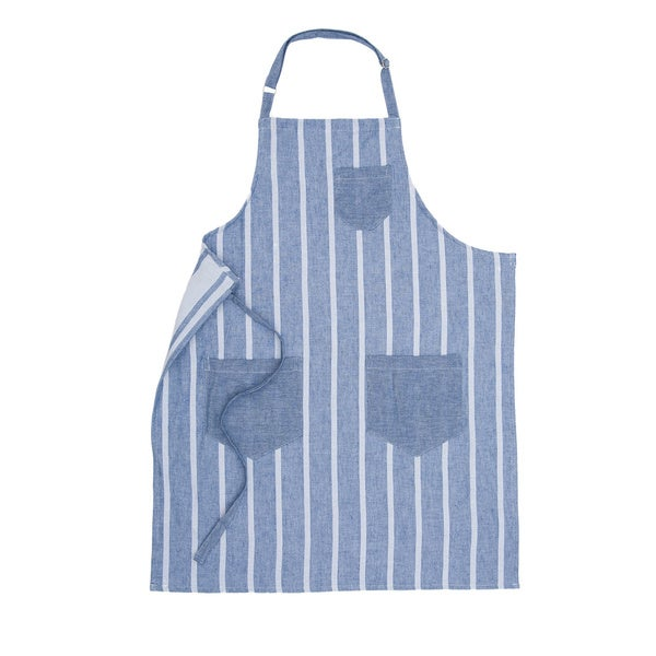 Turkish Cotton Thin Stripe Apron