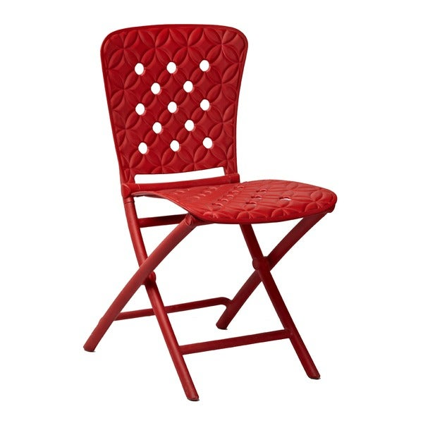 Ryan Red Foldable Chairs (Set of 2)