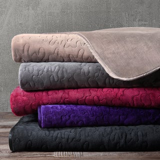 Madison Park Quilted Glimmersoft Throw