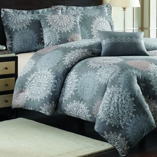 Nicole Miller Cortina Cotton 5-piece Comforter Set with Decorative Pillows
