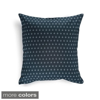 Anchor Pattern 16-inch Decorative Pillow Cover