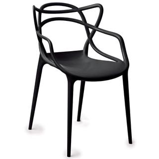 Gabriel Black Stackable Accent Chair (Set of 2)