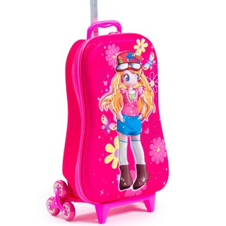 Maxi's Designs Children's 3D Kaly Princess 3-wheel Carry On Rolling Upright Suitcase