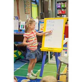 Luxor Kid's Chalkboard and Dry Erase Board Easel