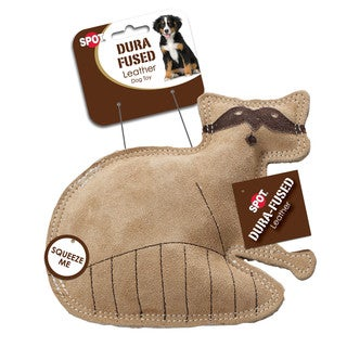 Ethical Pet Leather Raccoon Dog Toy