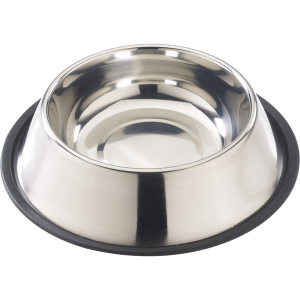 Stainless Steel No-Tip Mirror Dish 16oz