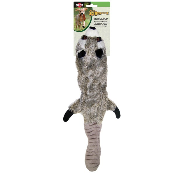 "Skinneeez Stuffing Free Dog Toy 23""-Raccoon"