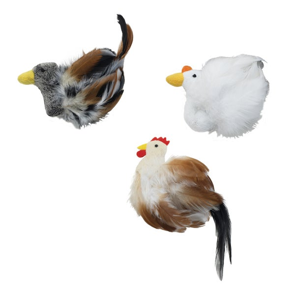 "Birds Of A Feather 6""-Duck, Rooster Or Chicken"
