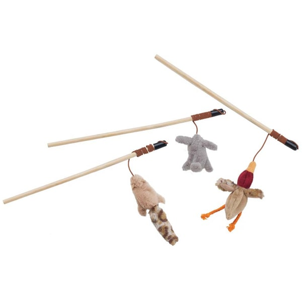 "Skinneeez Forest Friends Wand For Cats 12""-Rabbit, Duck Or Chipmunk"