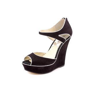 Michael Kors Women's 'Riley Wedge' Regular Suede Sandals