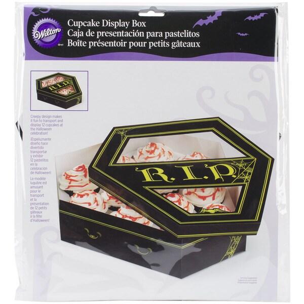 Cupcake Box W/Lid 1/Pkg-Halloween Coffin