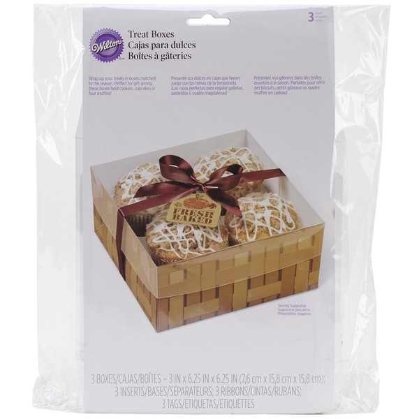 Treat Boxes 4 Cavity 3/Pkg-Fresh Baked