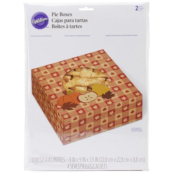 """Pie Boxes 9"""" 2/Pkg-Autumn"""