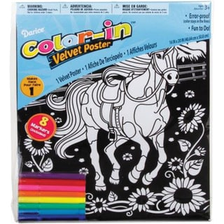 "Color-In Velvet Poster 16""X20""-Horse"