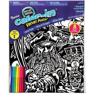 """Color-In Velvet Poster 16""""X20""""-Pirate"""
