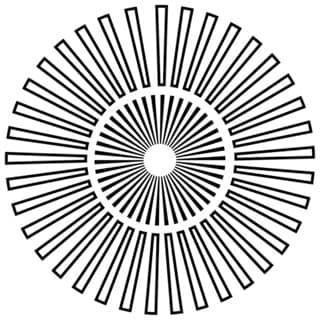 "Crafter's Workshop Template 6""X6""-Sunburst"