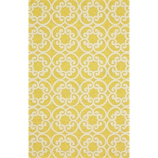 "Grand Bazaar Tufted Polypropylene Hareer Rug in Maize 7'-6"" x 9'-6"""