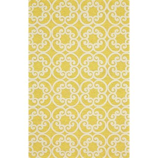 "Grand Bazaar Tufted Polypropylene Hareer Rug in Maize 8'-6"" x 11'-6"""