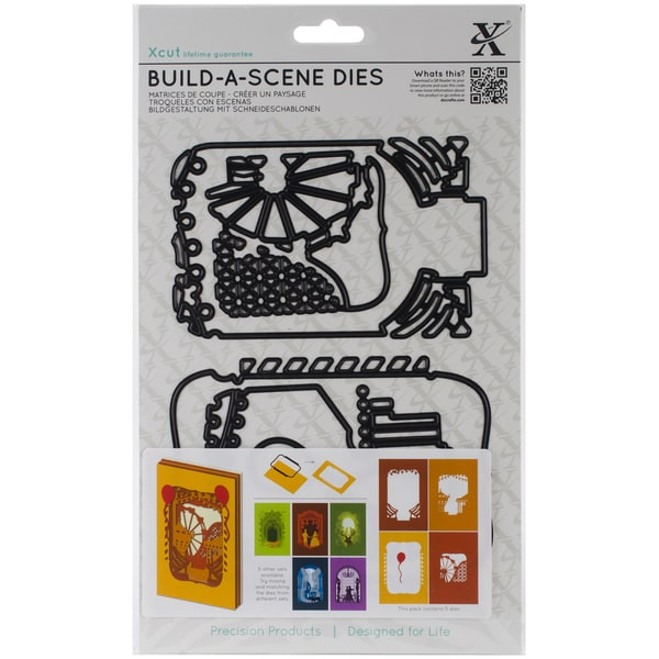 Xcut Build-A-Scene Dies 5/Pkg-Shadow Box Fairground