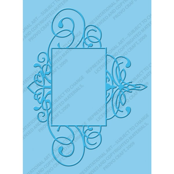 Cuttlebug A2 Embossing Folder-Flourished Frame