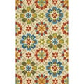 Grand Bazaar Tufted Polypropylene Hareer Rug in Multi 3'-6