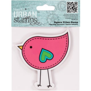 "Papermania Cling Urban Stamp 4""X4""-Bird"