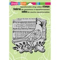 Stampendous Christmas Cling Rubber Stamp 5.5