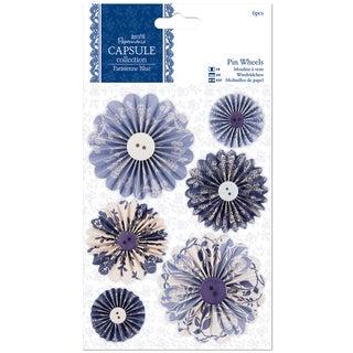 Papermania Parisienne Blue Pinwheels 6/Pkg
