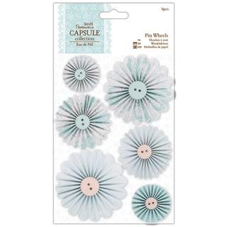 Papermania Eau De Nil Pinwheels 6/Pkg