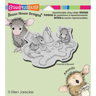 """Stampendous House Mouse Cling Rubber Stamp 4.5""""X4.75"""" Sheet-Finishing Touch"""