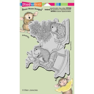 "Stampendous House Mouse Cling Rubber Stamp 4.5""X7.75"" Sheet-Rockin' Ride"