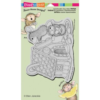 """Stampendous House Mouse Cling Rubber Stamp 4.5""""X7.75"""" Sheet-Gingerbread House"""