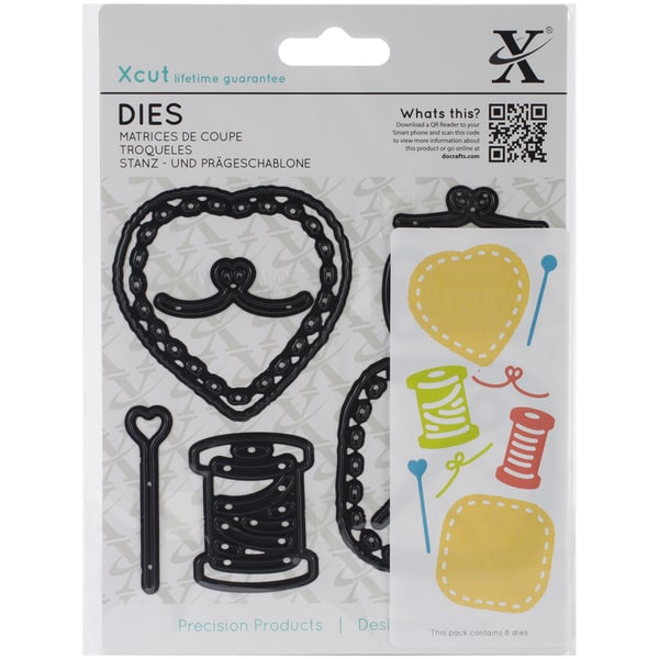 Xcut Decorative Dies 8/Pkg-Sewing Patches