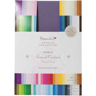 Papermania Premium Textured Solid Cardstock Pack A4 75/Pkg-Multi